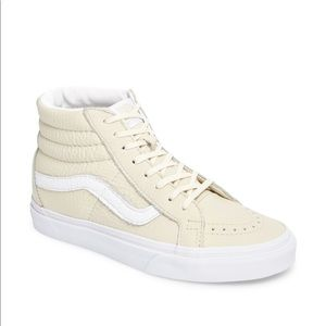 Vans Sk8 Hi cream leather women's size 8